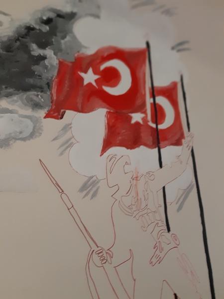 18 Mart Temali Duvar Boyama Etkinligi Halil Rifat Pasa Anadolu